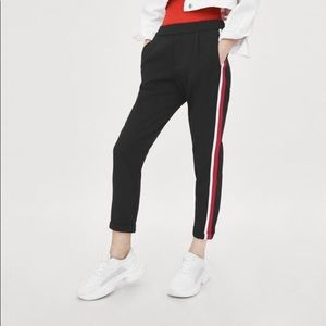 Zara Casual Double Striped Capris